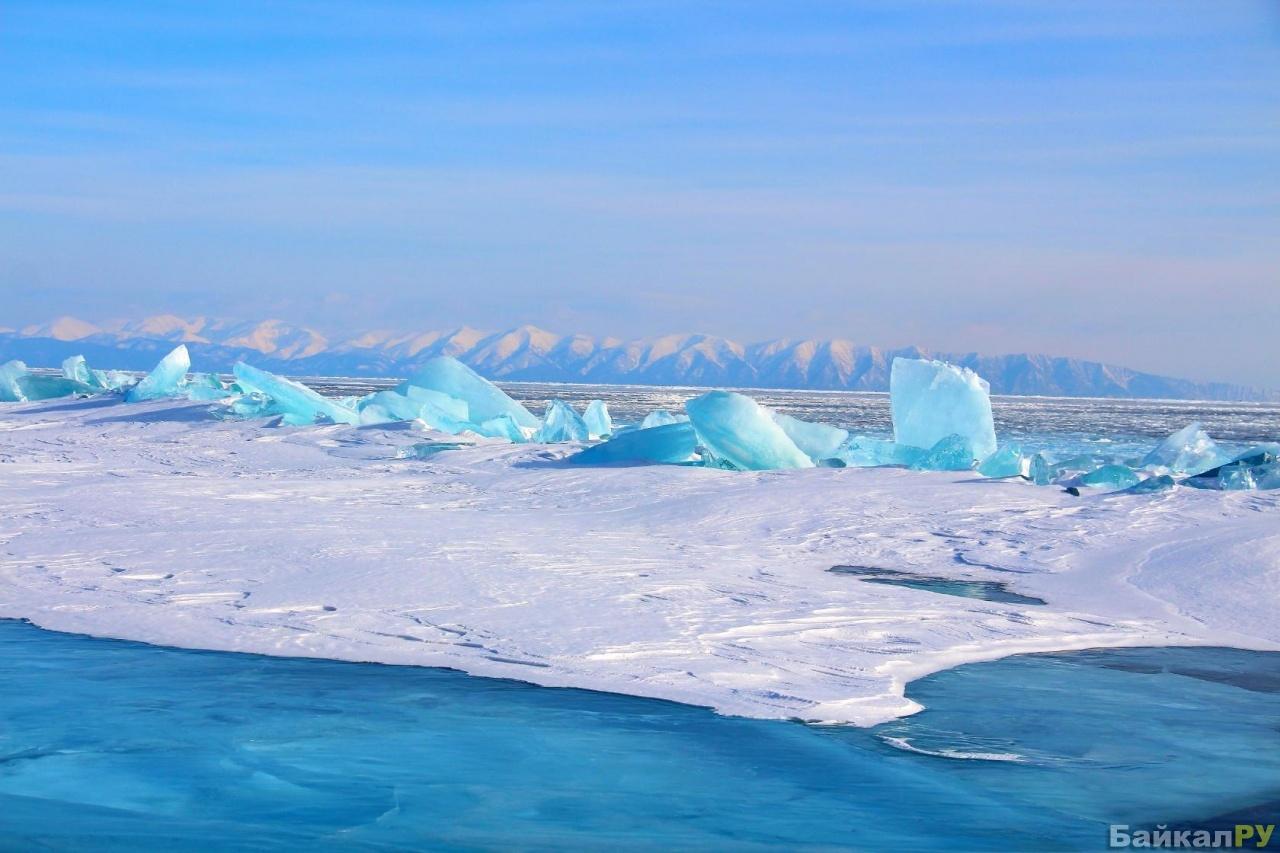 бирюзовый лед байкала фото рту образуются